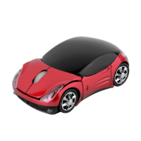 Wireless Mouse - Car Red. Мышь компьютерная. 1600DPI, 2.4ГГц