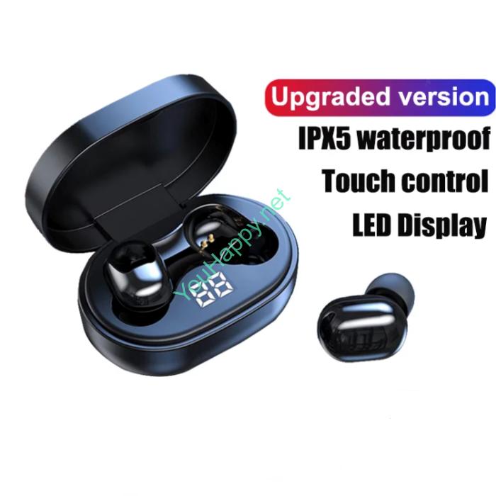 Беспроводные наушники TWS - A6S Plus 5.1 Черные. С сенсорным управлением.